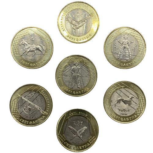 Set Cazaquistão 100 tenge, 2020 Série Tesouros da Estepe
