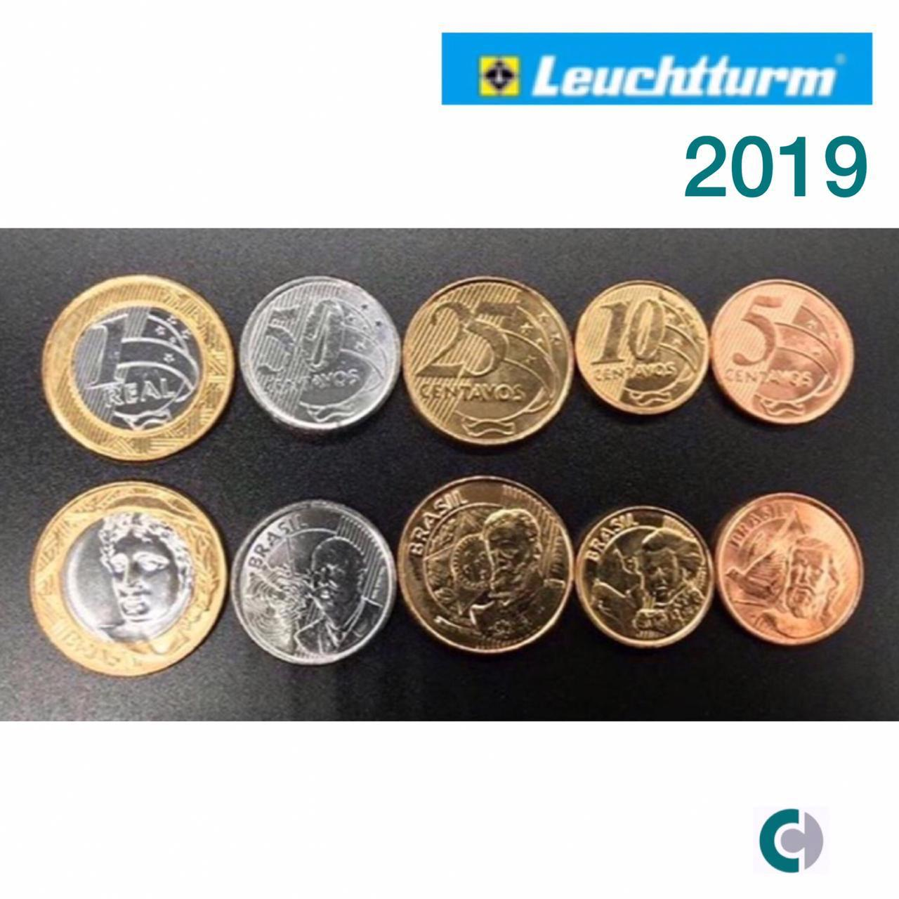 SET DE MOEDAS DO REAL 2019 FC - Em coin holders Leuchtturm