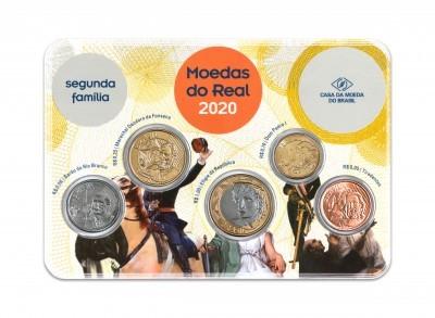 Set de moedas do real 2020 - Oficial da Casa da Moeda do Brasil