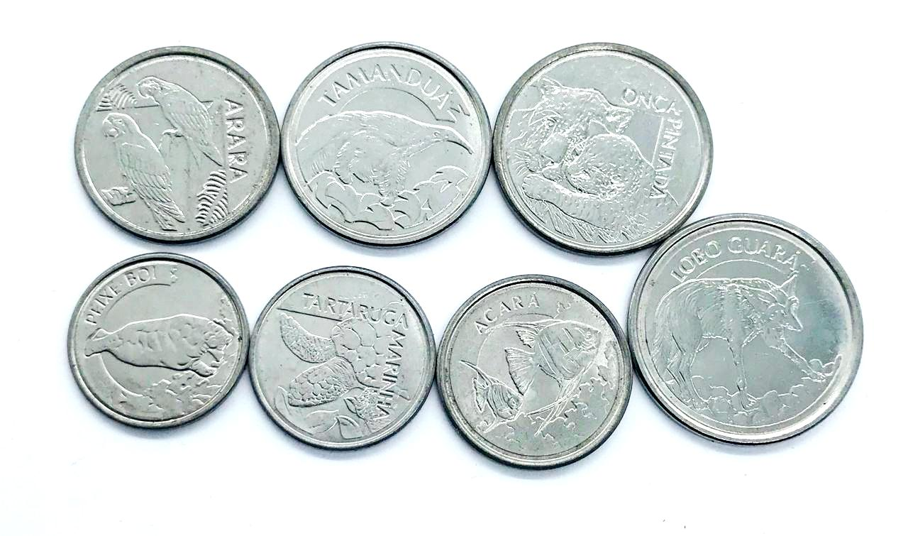 Set de moedas Fauna Brasileira (MBC+)