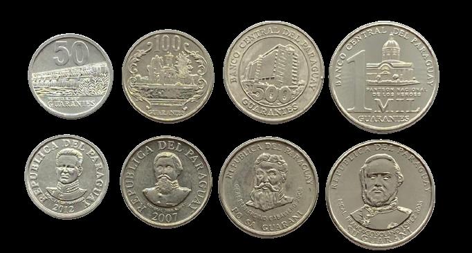 Set de moedas Paraguai