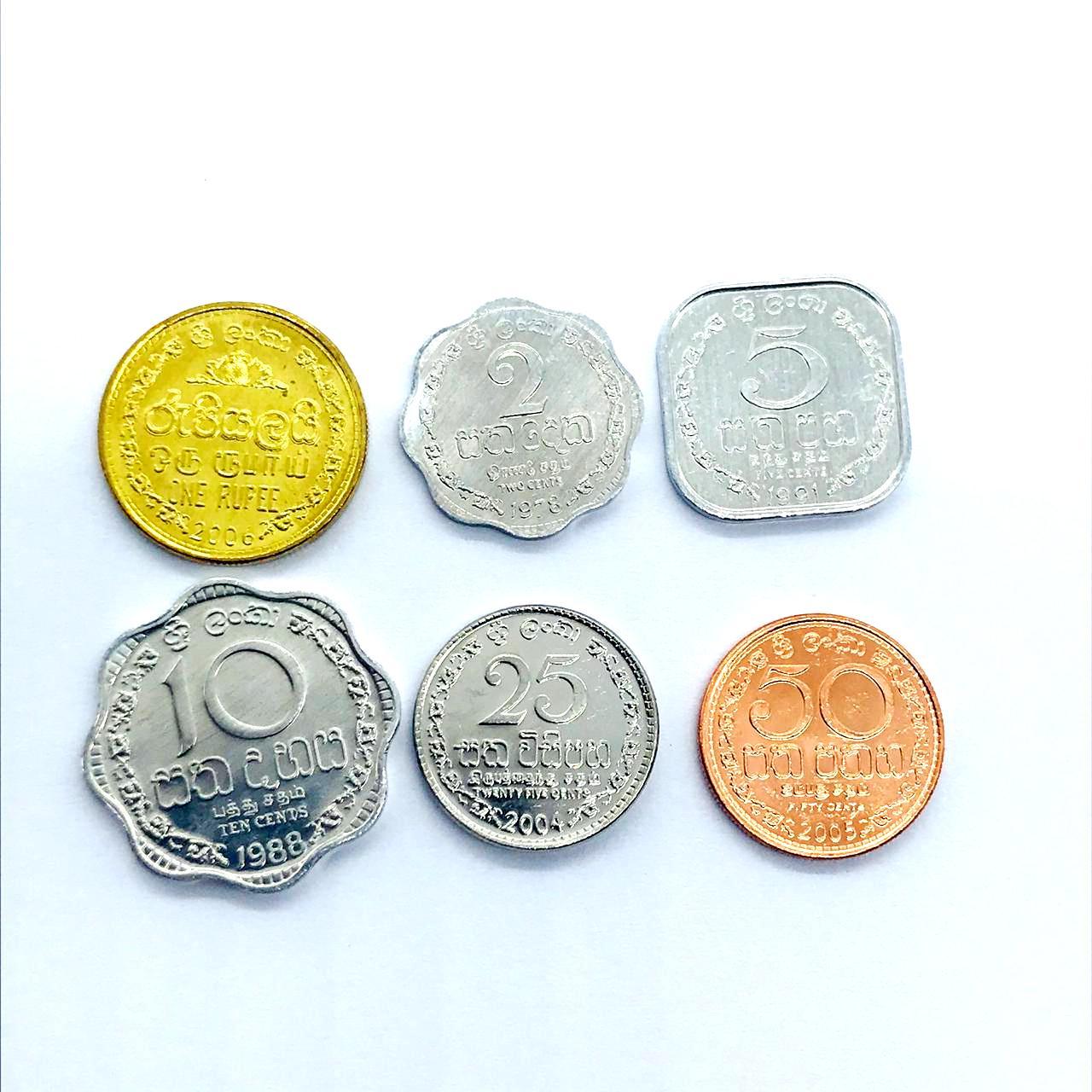 Set de moedas Srilanka -8 moedas