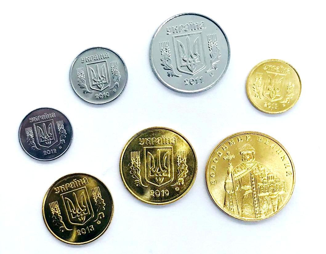 Set de Moedas Ucrania -7 moedas