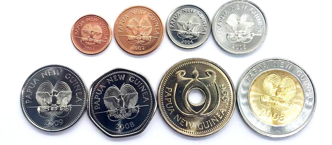 Set Papua Nova Guine  8 moedas