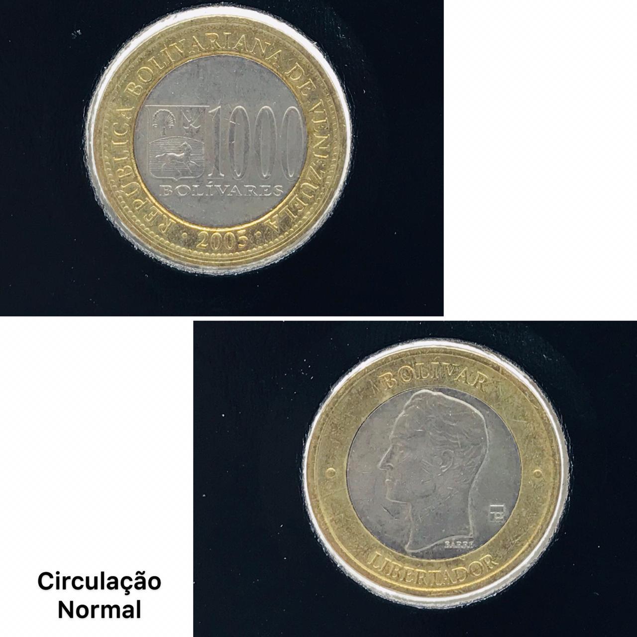 Moeda Venezuela Bimetálica 100 Bolívares