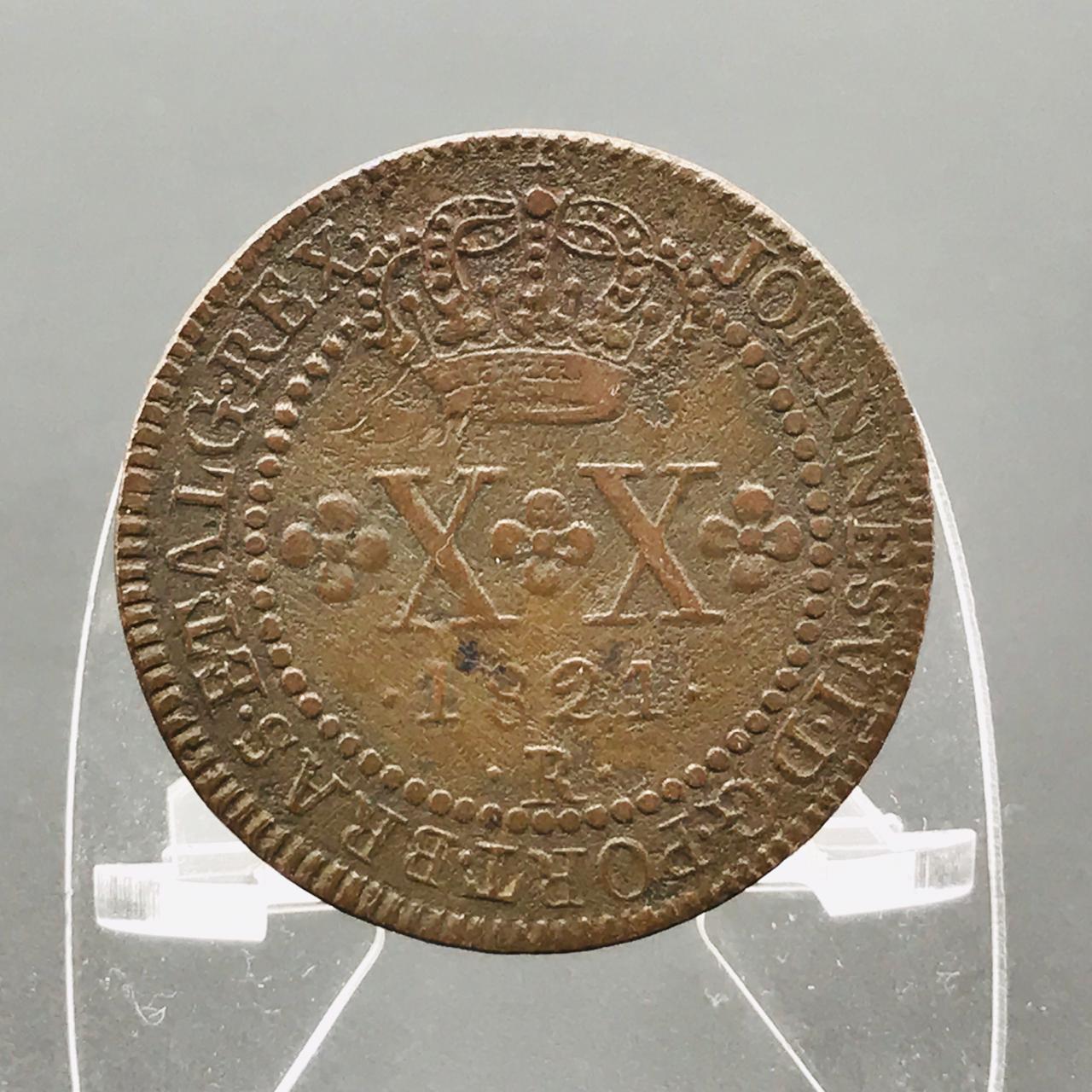 XX RÉIS 1821 R. Cobre