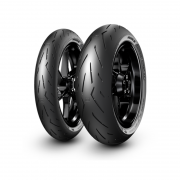 Combo de Pneus Pirelli Diablo Rosso Corsa II 120/70-17 + 160/60-17