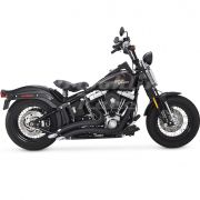 Escapamento Vance & Hines Big Radius 2 Into 2 - Preto - Softail 1986 - 2011