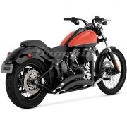 Escapamento Vance & Hines Big Radius 2 Into 2 - Preto - Softail 1986 - 2017