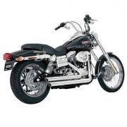 Escapamento Vance & Hines Big Shot Staggered - Cromado - Dyna 2006 - 2011