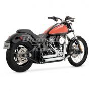 Escapamento Vance & Hines Shortshots Staggered - Cromado - Softail 2012 - 2017