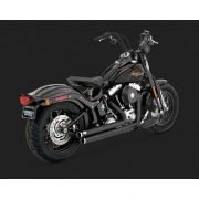 Escapamento Vance & Hines Big Shots Staggered 2 Into 2 - Preto - Softail 1986 - 2011