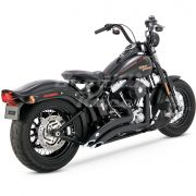 Ponteira 3´´ Vance & Hines Twin Slash - Preta - Dyna Fat Bob 2008 - 2017