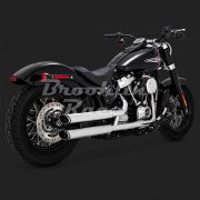 Ponteira Vance & Hines Twin Slash - Cromado - Softail 2018 - 2020