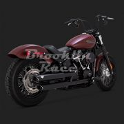 Ponteira Vance & Hines Twin Slash - Preto - Softail 2018 - 2020