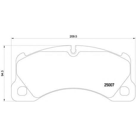 Brembo P65021 - pastilha de freio a disco dianteiro PORSCHE: Cayenne