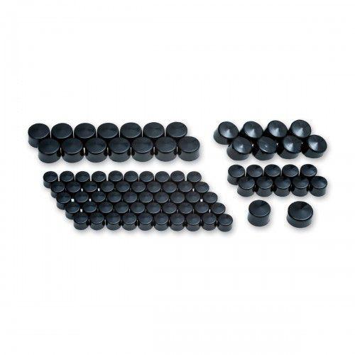 Capa dos parafusos preto para motores Twin Cam / Evolution - Kuryakyn