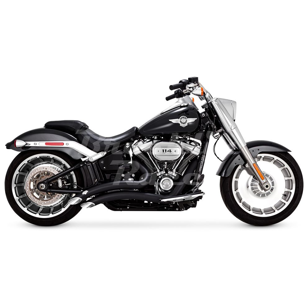 Escapamento Vance & Hines Big Radius 2 into 2 - Preto - Softail 2018 - 2020