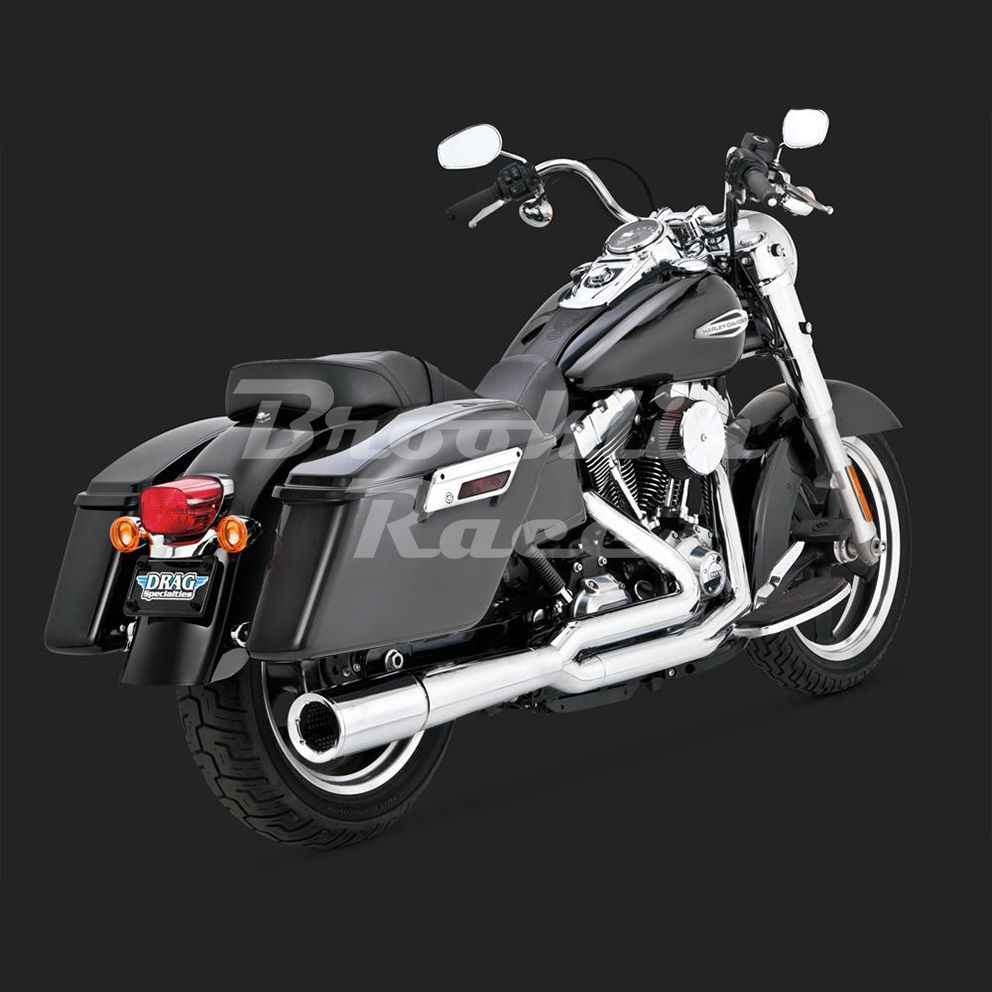 Escapamento Vance & Hines Pro Pipe 2 Into 1 - Cromado - Dyna Switchback 2012 - 2016