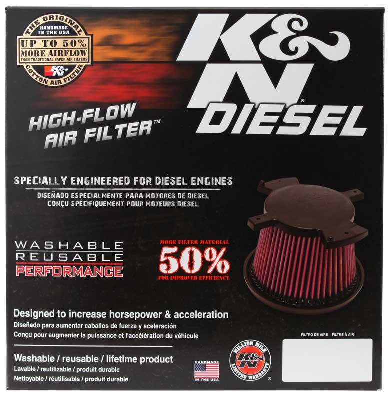 Filtro De Ar D 279x248x165 K&n - Dodge Ram / E-0787