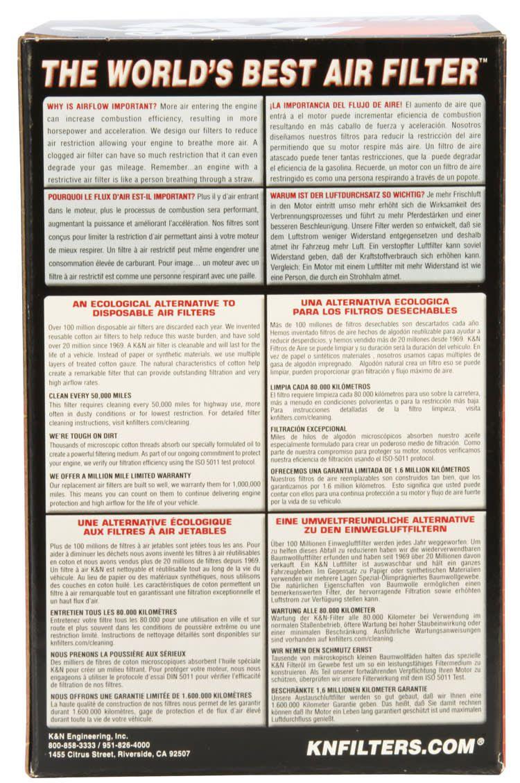 Filtro De Ar K&n Lavável Harley Sportster Xl 04-13 Hd-8834