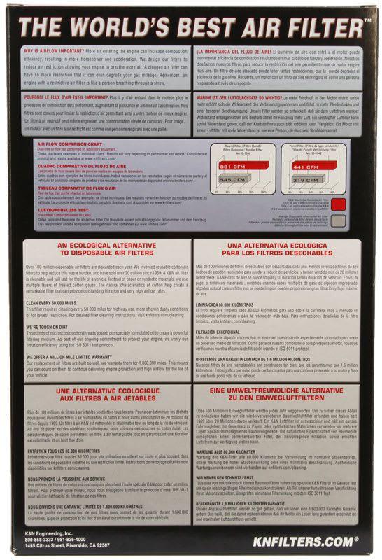 Filtro De Ar K&n Lavável Honda Cbr1000rr 08-16 Ha-1008