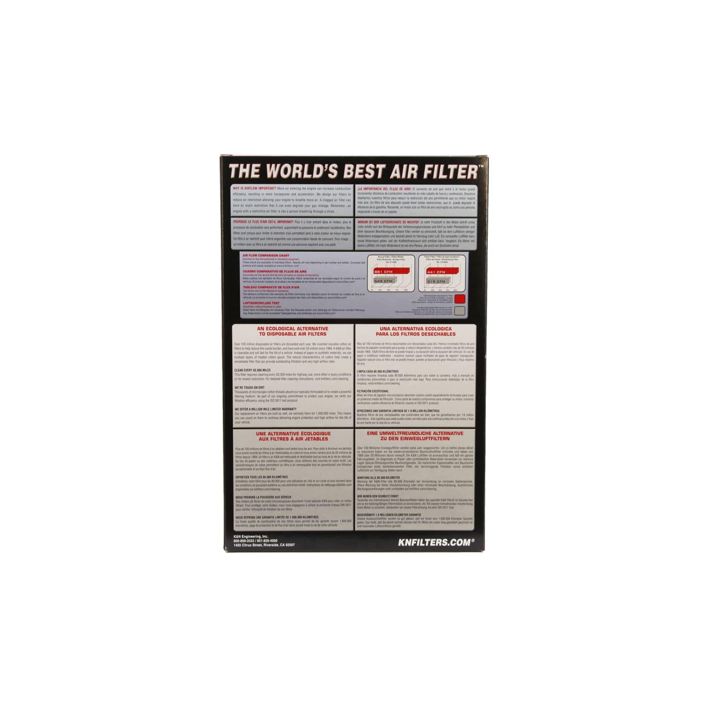 Filtro De Ar K&N 33-2277 Honda Accord Inspire
