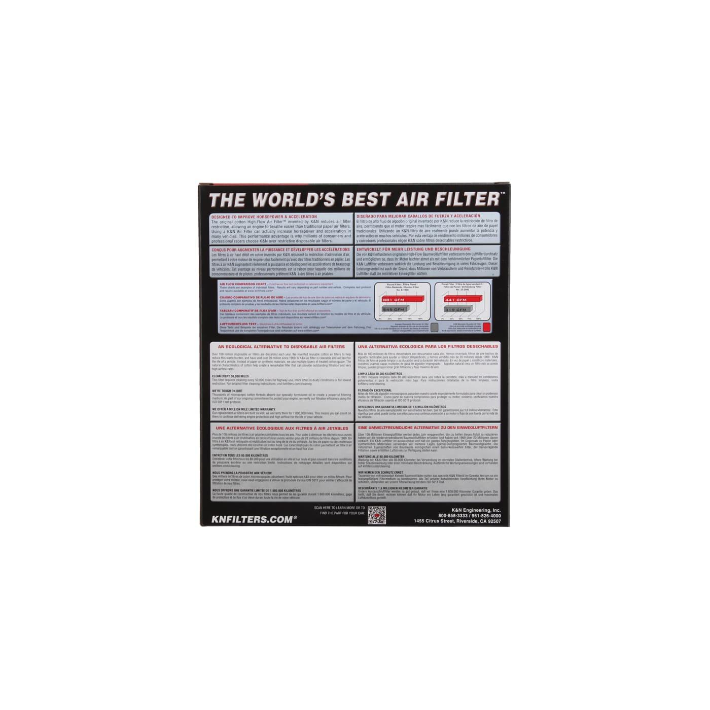 Filtro De Ar K&N 33-2376 Nissan Sentra