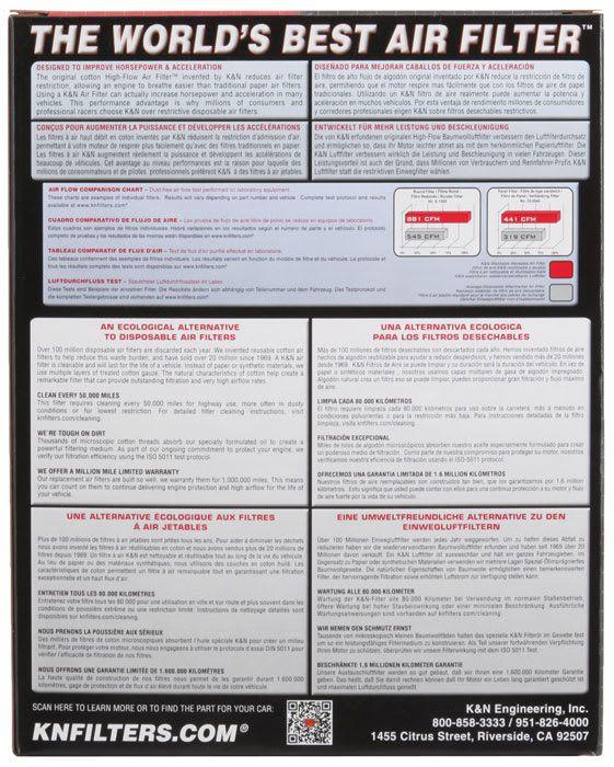 Filtro De Ar Lavável K&n - Hyundai I30 - 33-2380