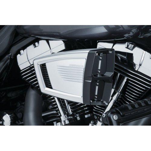 Filtro de Ar Modelo Hypercharger ES - Cromado com borboletas em Preto - Touring 08 - 16 e Softail 16 - 17