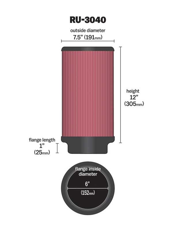 Filtro De Ar Universal Cilindro Confira Medida Descrição