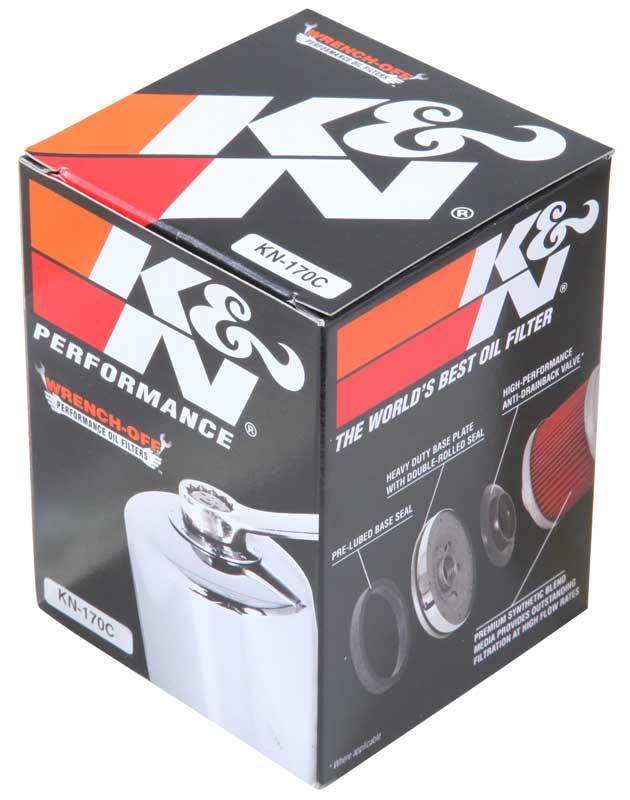Filtro De Óleo Cromado K&n Sportster Xl883 Xl1200 Kn-170c