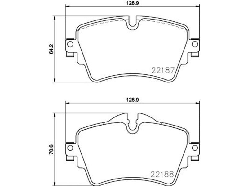 Jogo Pastilha Freio Diant Cooper S 2.0 F55 14 A 18 CLUBMAN COOPER 2016-2018 F54 Low Metal P06092