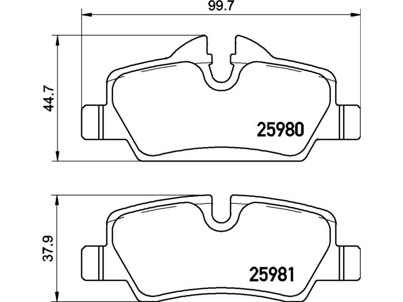 Jogo Pastilha Freio Diant Cooper S 2.0 F55 14 A 18 Low Metal P06092 JCW (F56) 231cv 17>