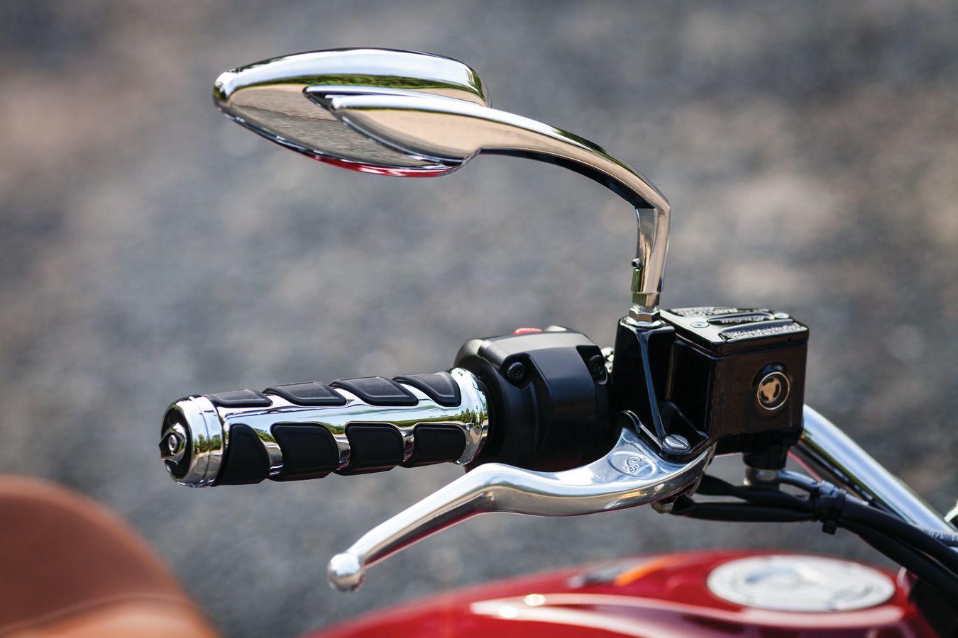 Manopla Modelo Kinetic para Harley Davidson com Acelerador Eletronico - Cromado