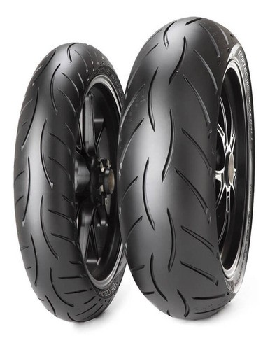 Par Pneu Metzeler 110 70 17 + 140 70 17 Sportec M5 Yamaha R3