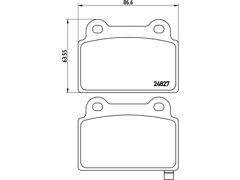 Pastilhas De Freio Traseiras Subaru Wrx Sti 2.5 T Brembo P54052