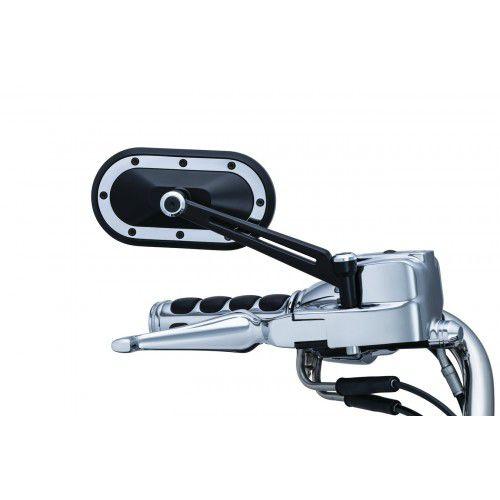 Retrovisor Modelo Heavy Industry - Preto - Harley Davidson & outras Marcas de Motocicletas, Requer o Uso dos Adaptadores