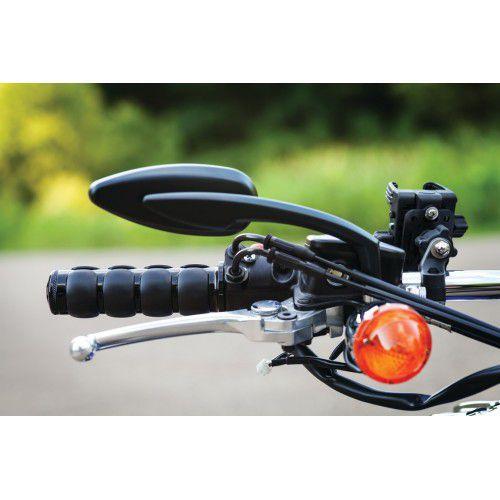 Retrovisor Modelo Teardrop - Preto - Harley Davidson & outras Marcas de Motocicletas, Requer