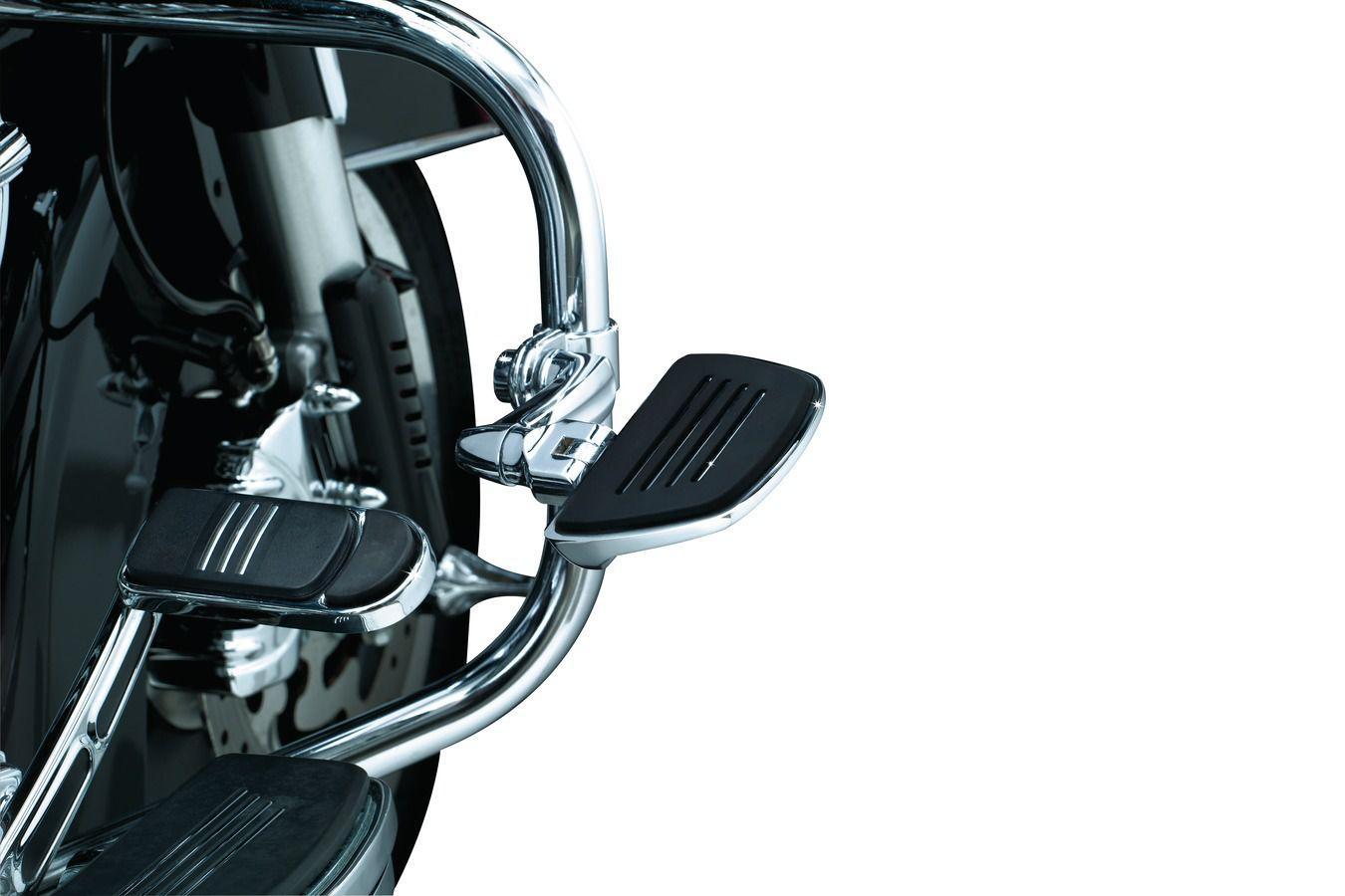Suporte de Pedaleira com Abraçadeira para Protetor de Motor de 1-1/4´´ - Cromado