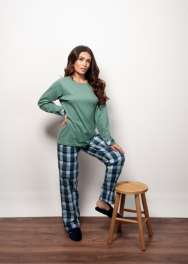 Pijama Feminino com Calça Flanela Xadrez