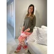 Pijama Feminino em Viscolycra Floral