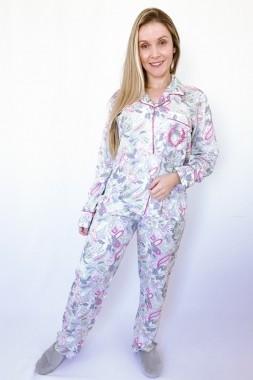 Pijama Feminino Longo Aberto Viscose Cashmere