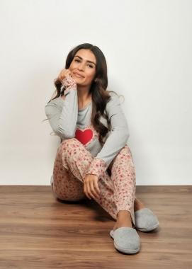 Pijama Feminino Longo Calça Onça