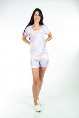 Short Pijama Tie Dye Curto