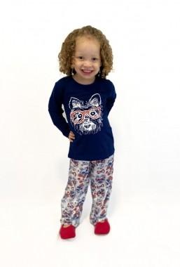 Pijama Infantil Feminino Estampa Cachorro