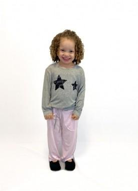 Pijama Infantil Feminino Estrela