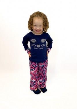Pijama Infantil Feminino Oncinha Strass