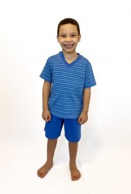 Pijama Infantil Masculino Azul Listrado