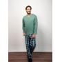 Pijama Masculino com Calça Flanela Verde